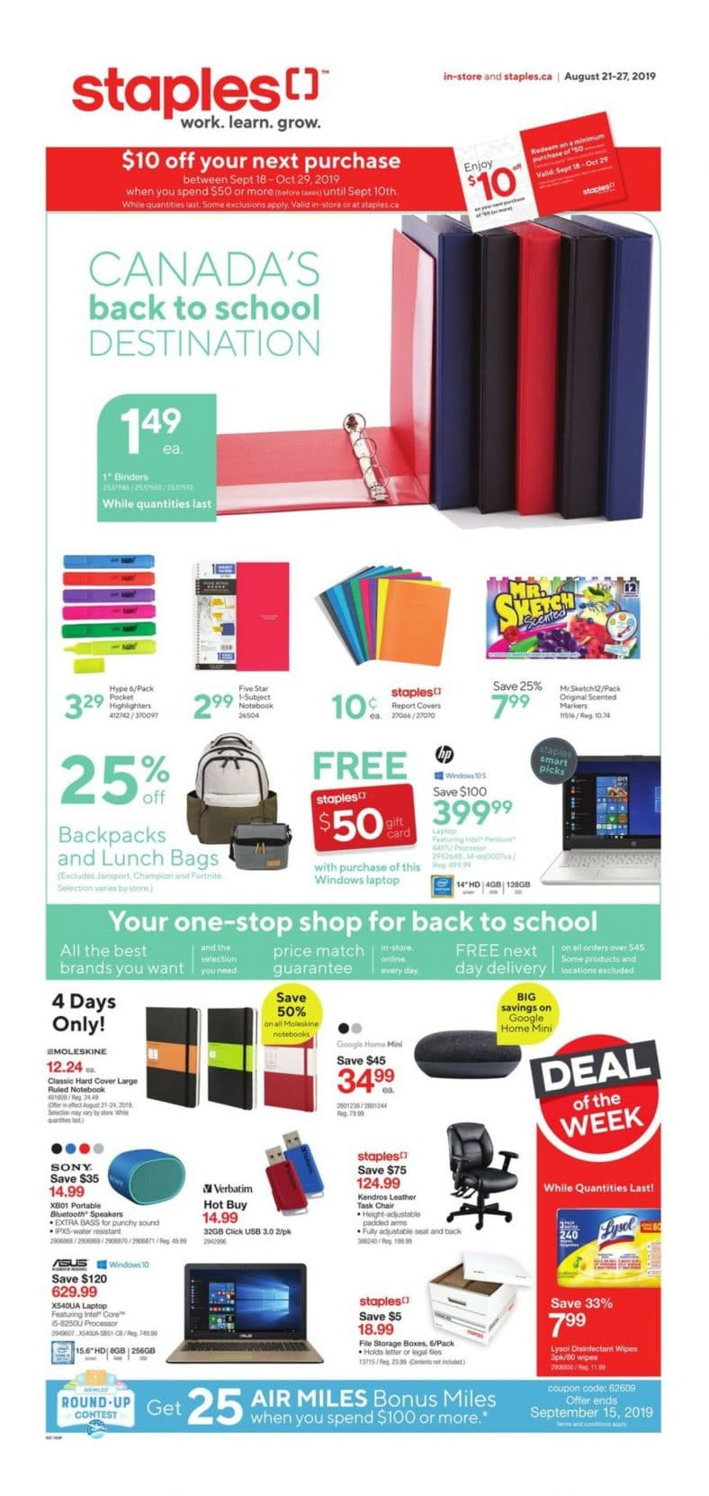 Staples Flyer August 21 to 27 2019 001