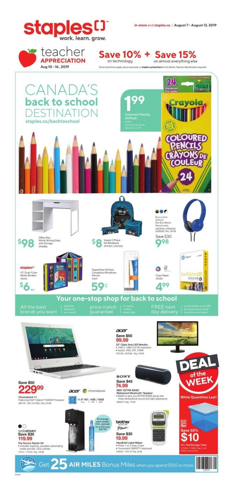 Staples Flyer August 7 to 13 2019 001