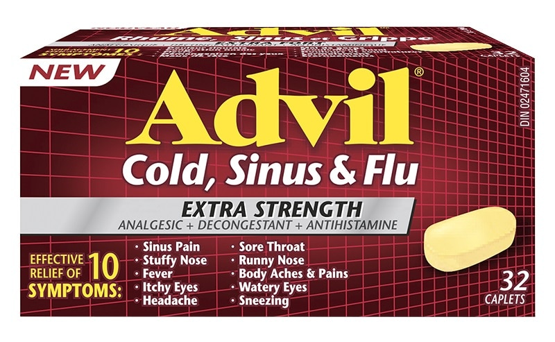 advil cold sinus flu 32ea