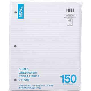 everyday essentials lined paper
