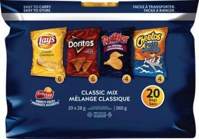 frito lay variety packs classic mix 20ct snacks
