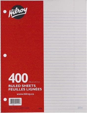hilroy refill paper 400sheets