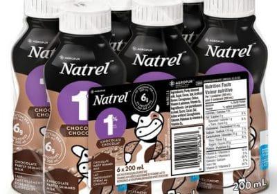 natrel chocolate milk 6x200ml