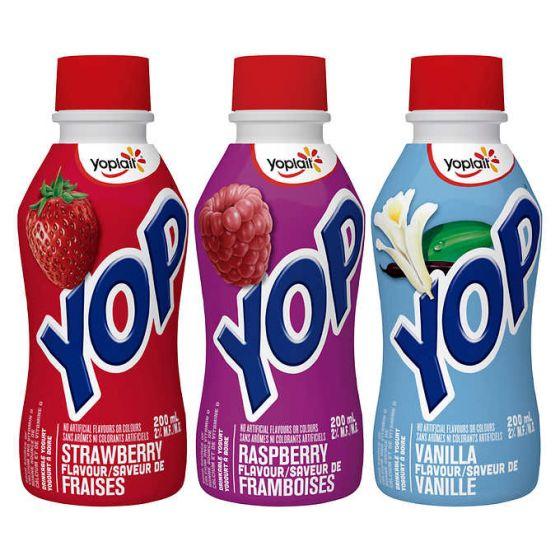 yop yoplait drinkable yogurt
