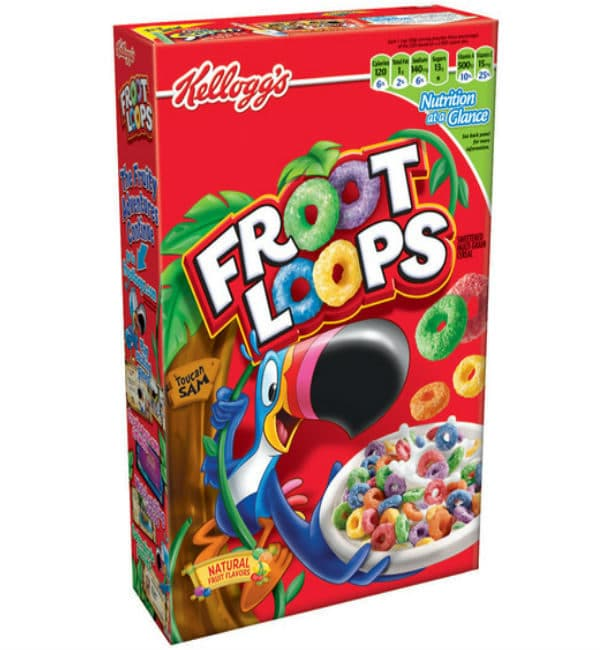 Kellogs Fruit Loops Cereal (345g) $2.27 OFF Canadian