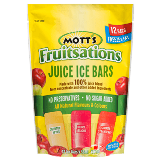 motts fruitsations juice ice bars 636ml