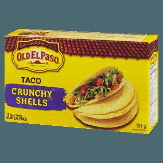old el paso taco shells 191g