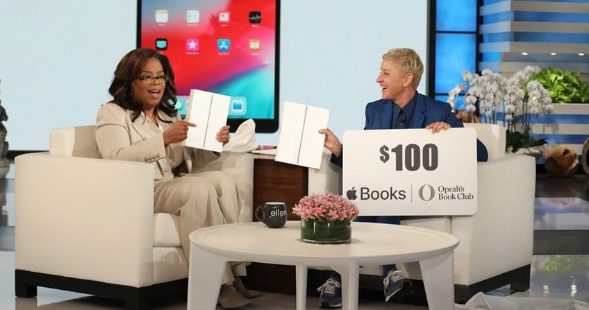 win apple ipad air apple books gift card from ellen