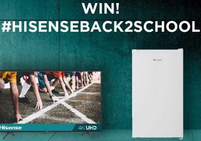 win hisense back to school prize pack tv refregirator