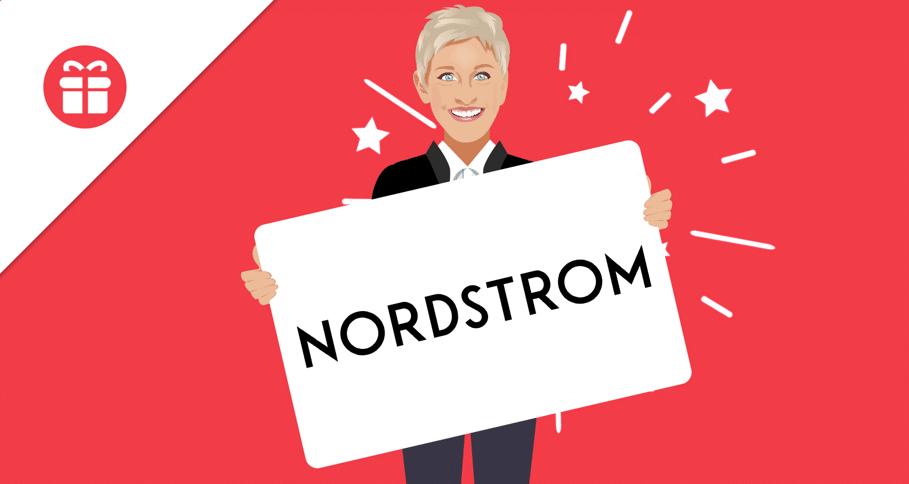 win nordstroms gift card ellen tube