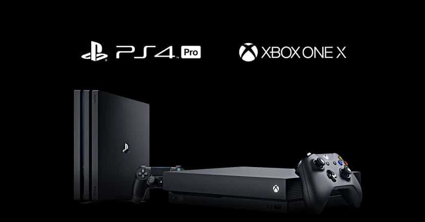 win ps4 pro xbox one x consoles