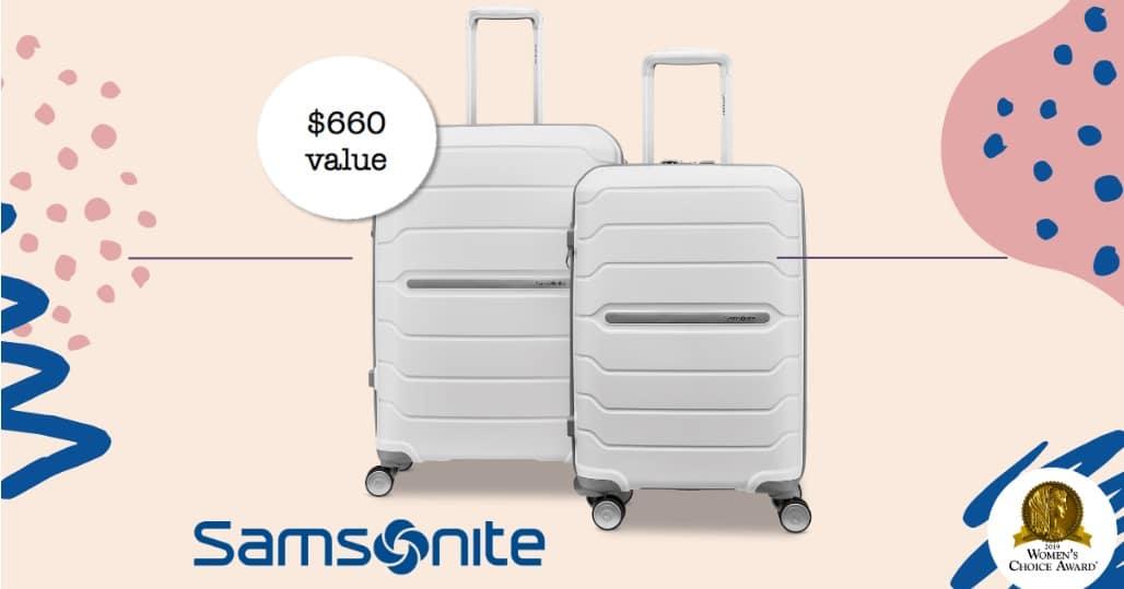 win samsonite luggage set