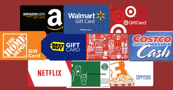 WIN 100 gift card of your choice