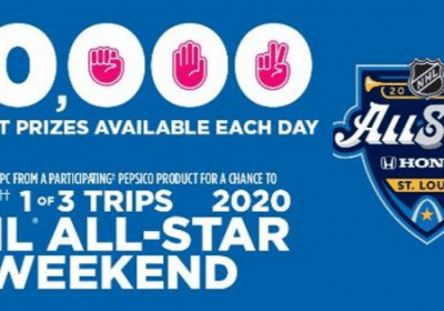 win 3 trips to NHL and 10000 instant prizes