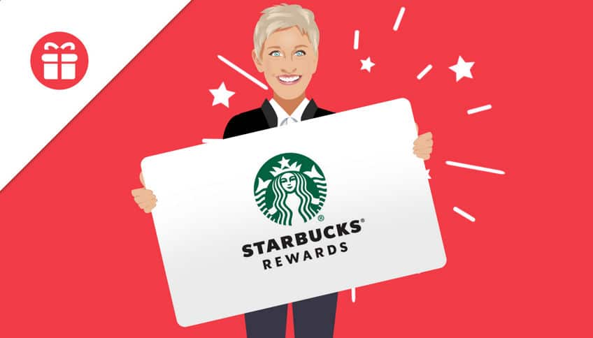 win starbucks gift card ellen