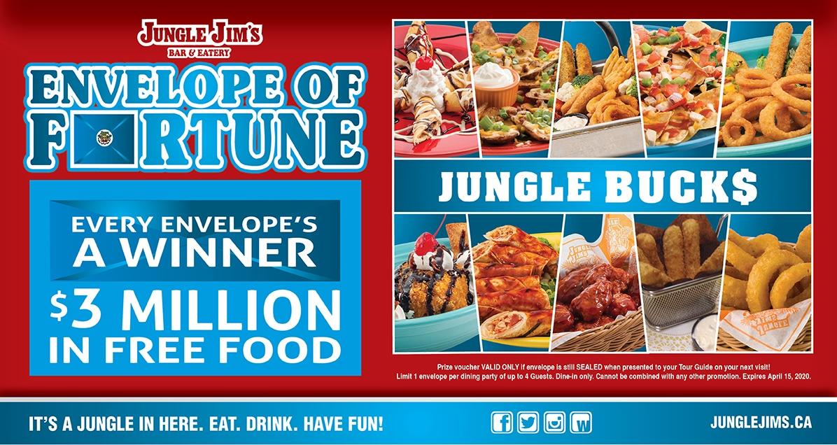 jungle jim envelope of fortune contest