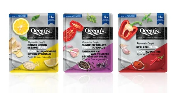 win oceans tuna flavoured pouches