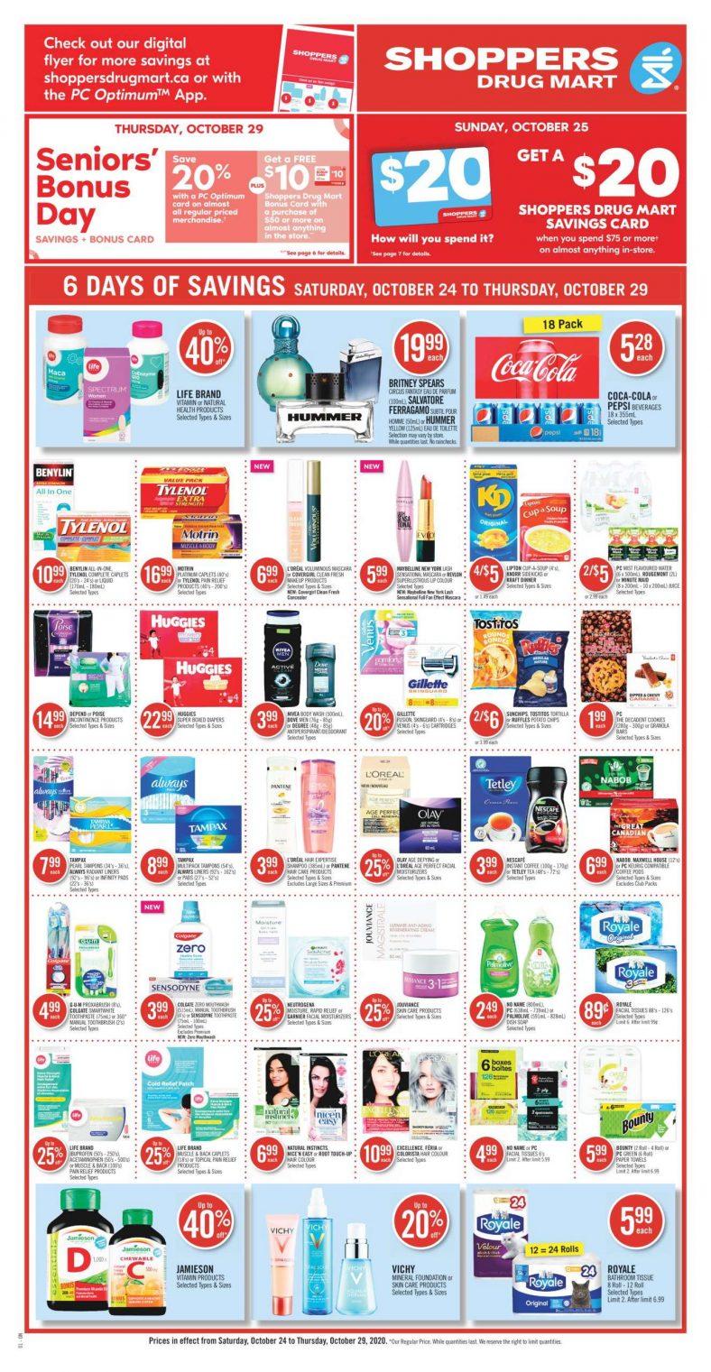 01 Shoppers Drug Mart Flyer October 24 October 29 2020