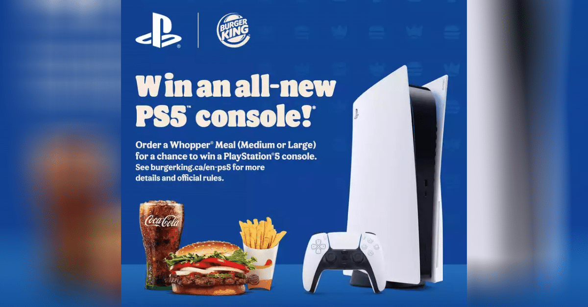 burger king contest win ps5