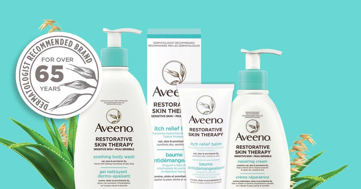 try aveeno restorative therapy products