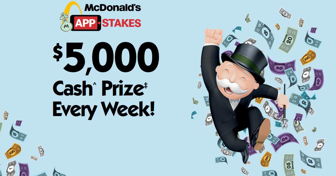 win mcdonalds cash