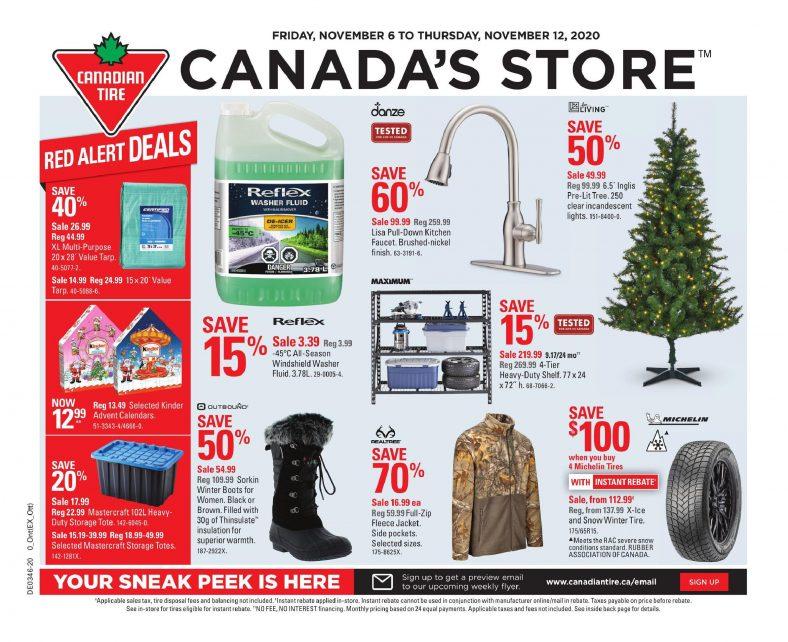 01 Canadian Tire Flyer November 6 November 12 2020