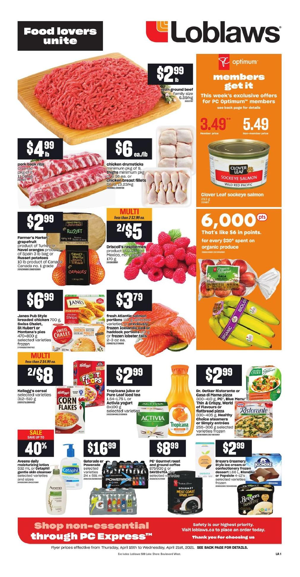 01 Loblaws Flyer April 15 April 21 2021