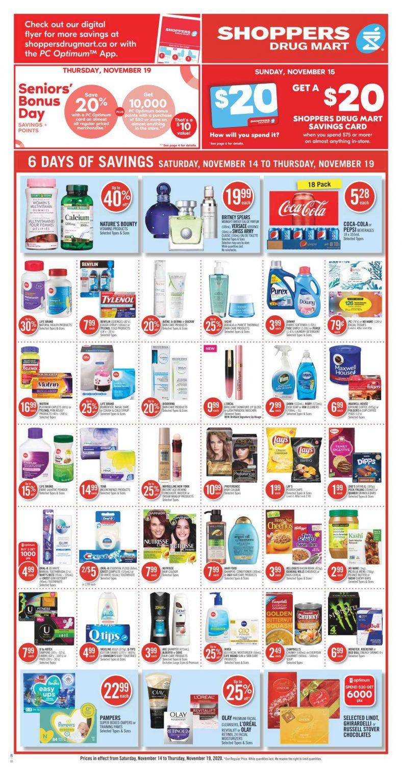 01 Shoppers Drug Mart Flyer November 14 November 19 2020