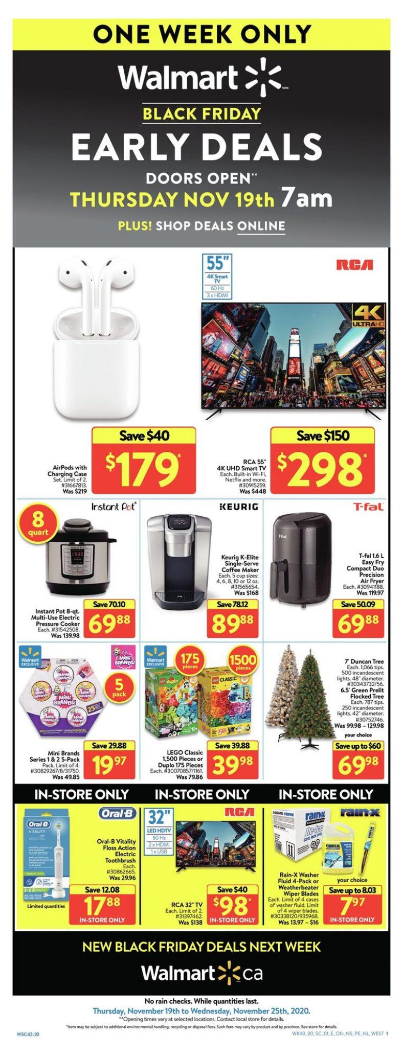 01 Walmart Supercentre Flyer November 19 November 25 2020. Black Friday Early Deals