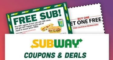 Subway Coupons Canada