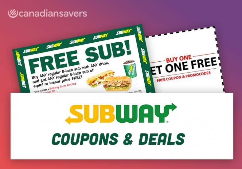 Subway Coupons Canada