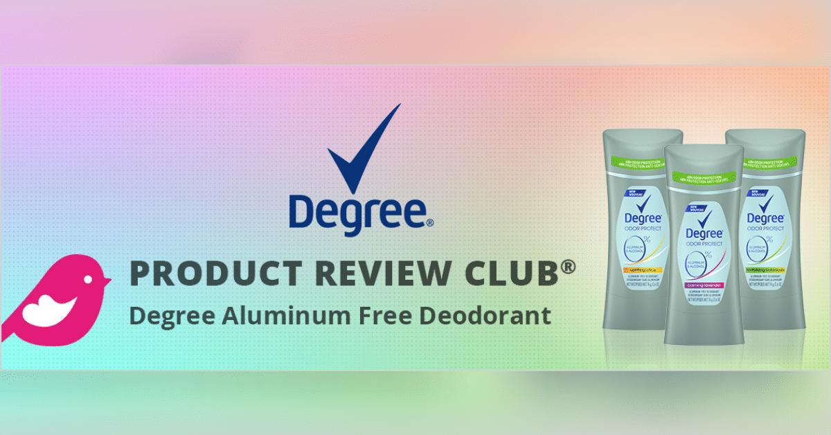 degree aluminum free deodorant