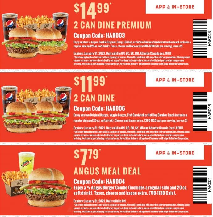 harvey's coupons