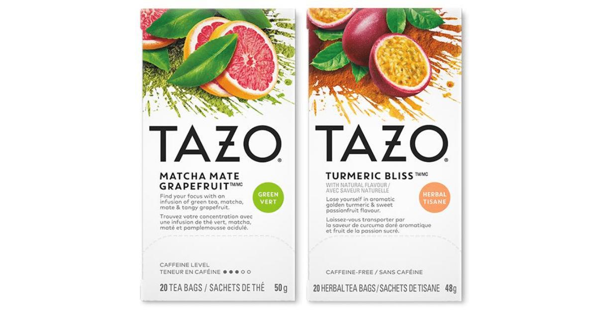 tazo tea sample