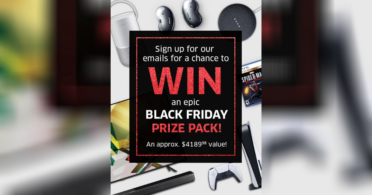 win black friday prize pack