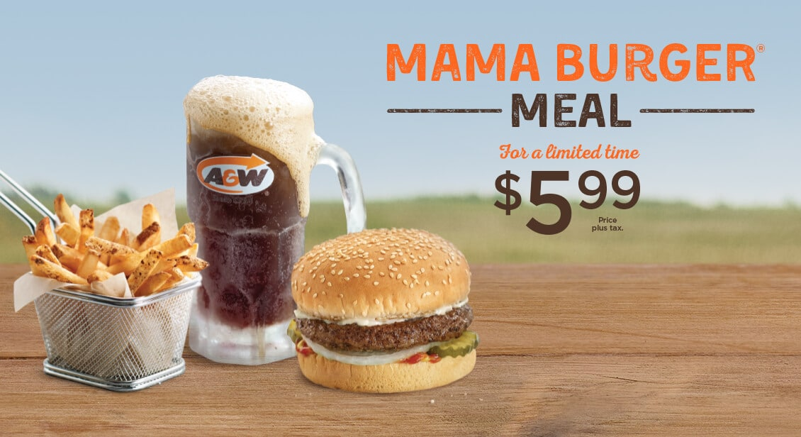 A&W coupons Canada