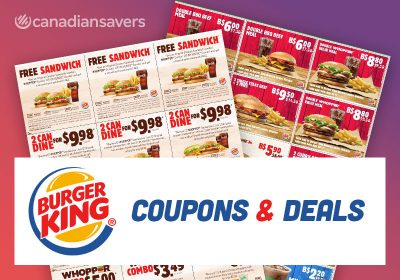 Burger King Coupons Canada