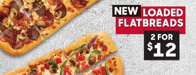 Pizza Hut Coupon - Loaded Flatbreads 2 for $12 Bundle