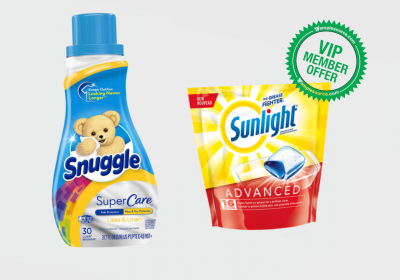 Snuggle sunlight cleaning products