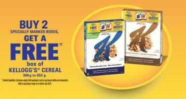 free kellogg cereal