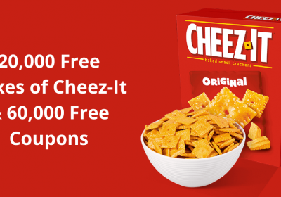 20000 Free Boxes of Cheez It crackers 60000 Free Coupons