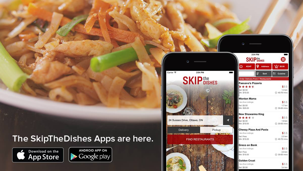 Skip the Dishes Mobile Application