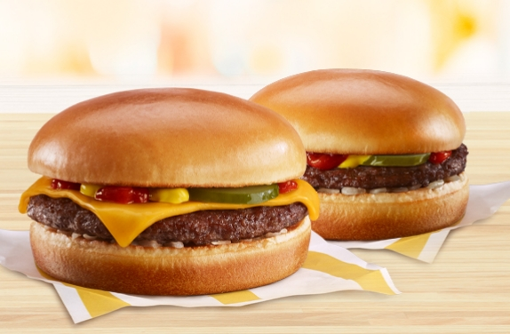 FREE Cheeseburger or Hamburger