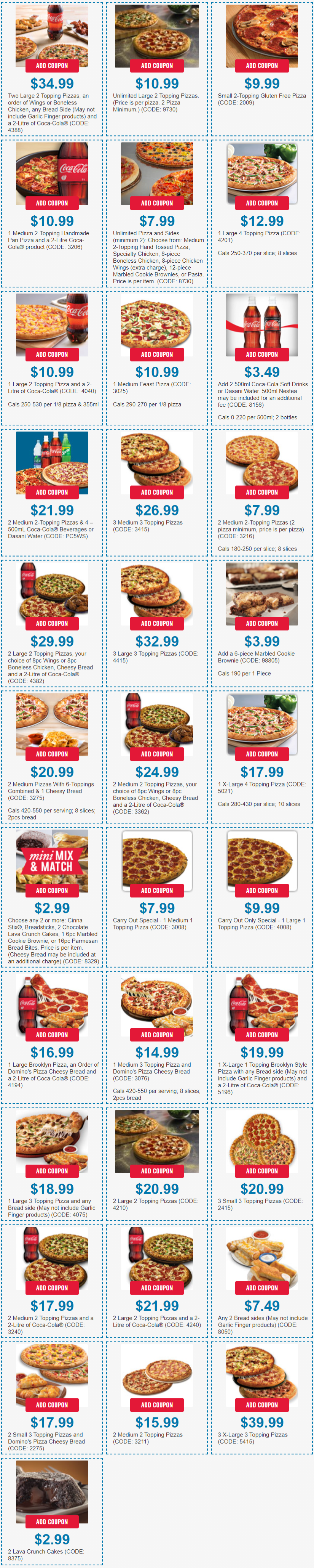 coupon dominos 3