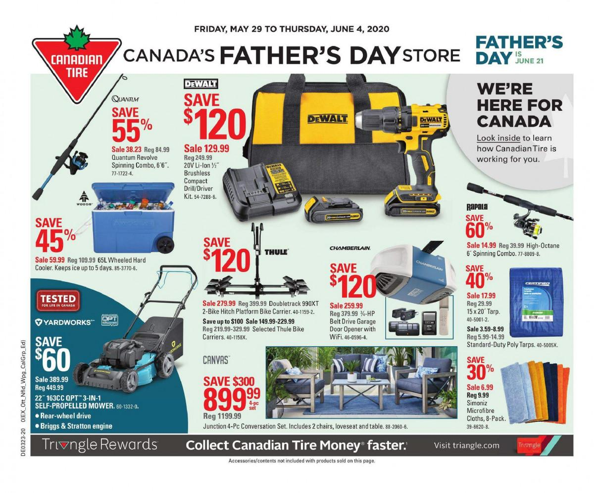 01 - Canadian Tire Flyer May 29 - June 4, 2020
