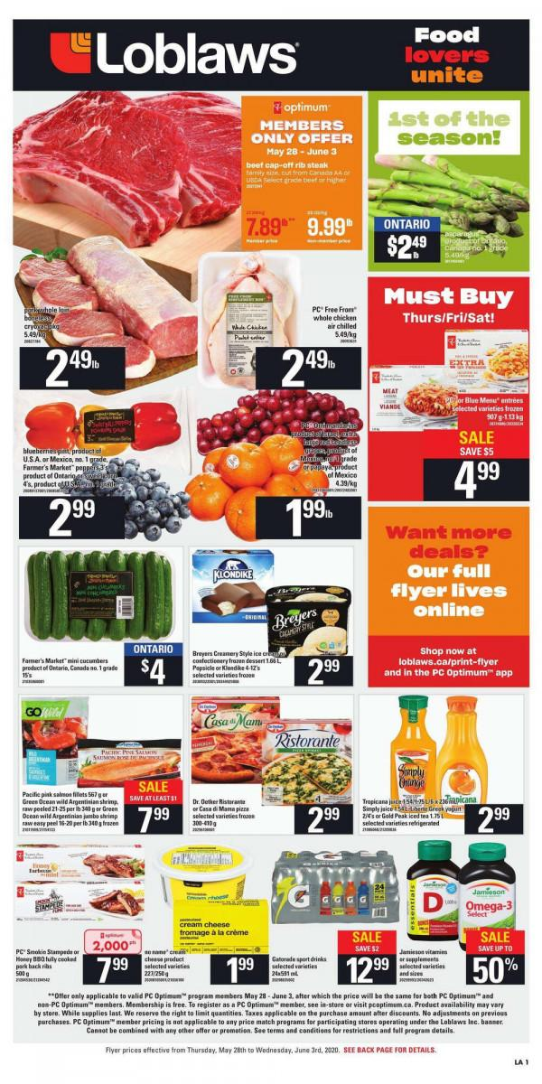 01 - Loblaws Flyer May 28 - June 3, 2020
