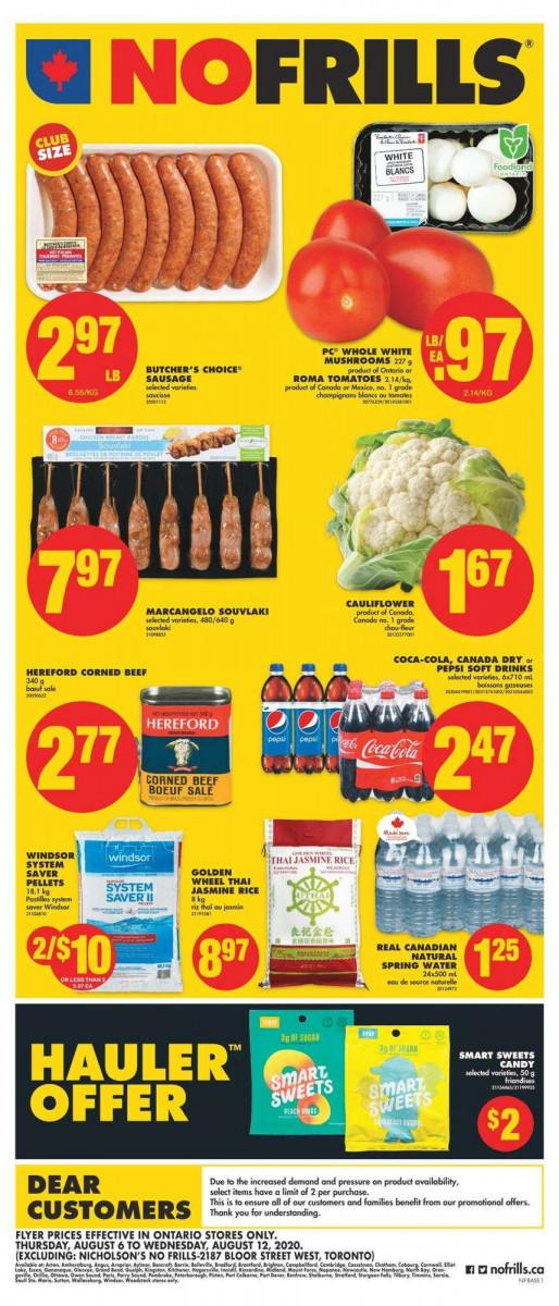 01 - No Frills Flyer (ON) August 6 - August 12, 2020