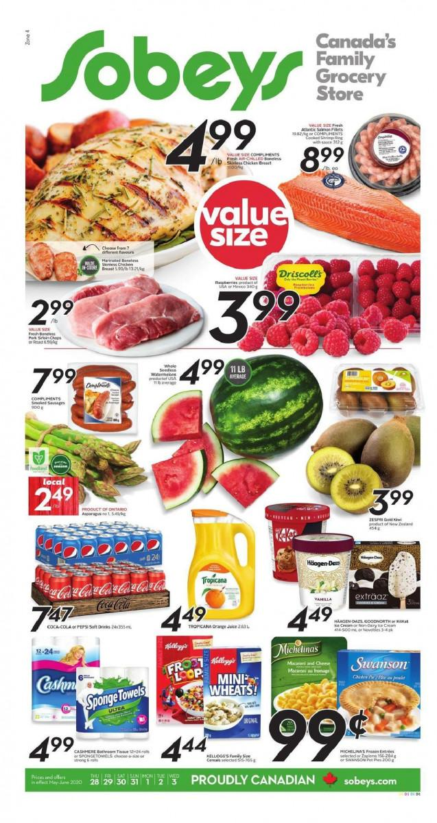 01 - Sobeys (ON) Flyer May 28 - June 3, 2020