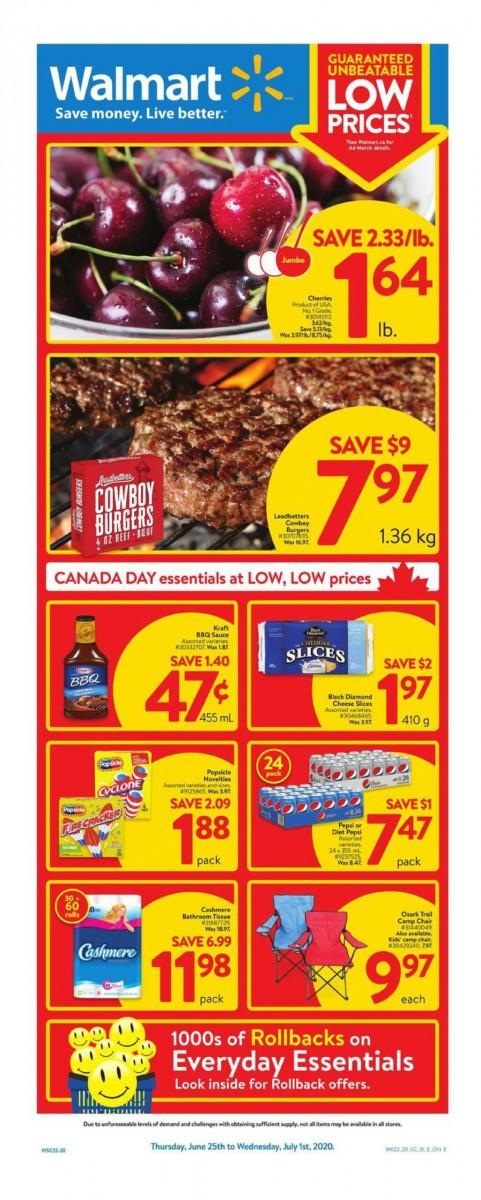 01 - Walmart Supercentre Flyer June 25 - July 1, 2020