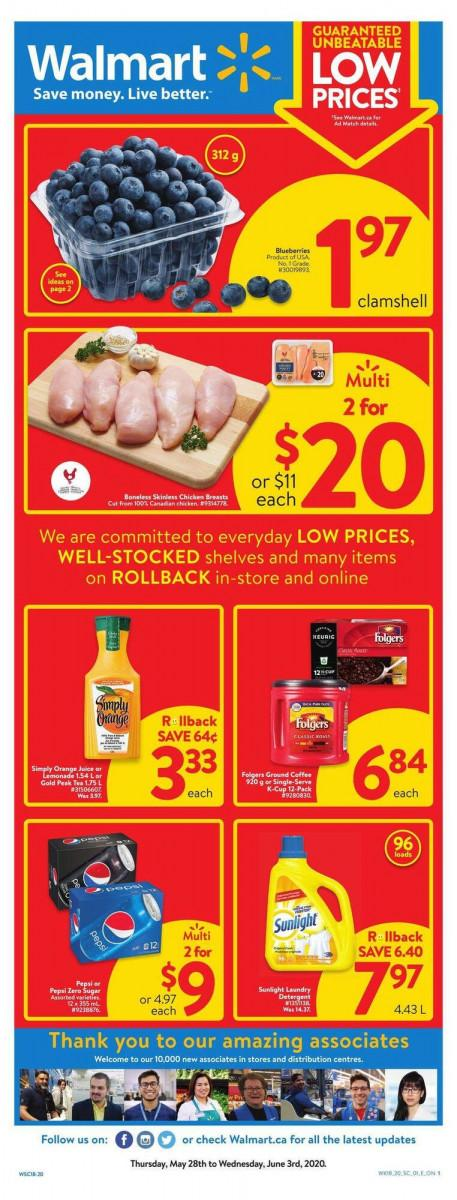01 - Walmart Supercentre Flyer May 28 - June 3, 2020